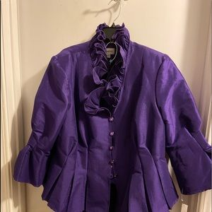 Purple 2 piece suit never worn. Size 20W.